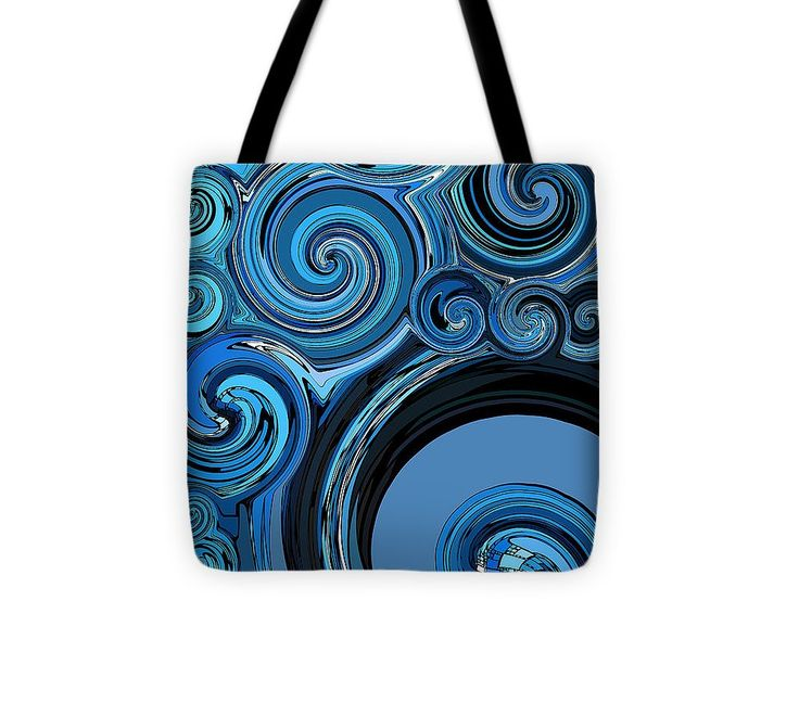 """Whirl 4 Tote Bag (13"""" x 13"""") by Chris Butler.  #totebag #bag #abstract #colorful #design #art #Lifestyle"""