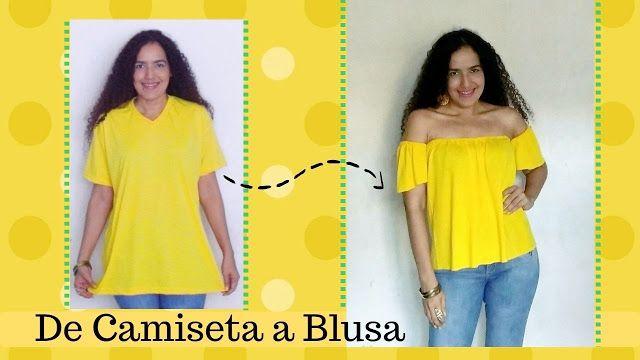 Aprende con SANDRA PADILLA : De Camiseta a Blusa de Moda