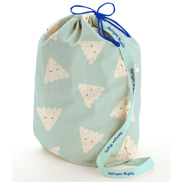 Rod & Dot print ~ each bedding design comes in a cute little bag just like this. Imaginative Bedding for Kids.