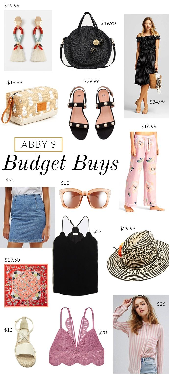 Abby shares her budget buys for April, which is full of fashion and style deals under $50.