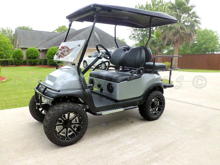 Custom lifted 2011 Club Car Precedent electric powered high speed golf cart, by CKDs Golf Carts