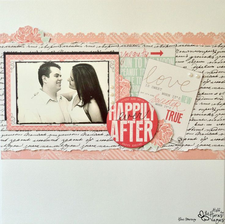 scrapbooking scrapbook layout LO Teresa Collins Save the date