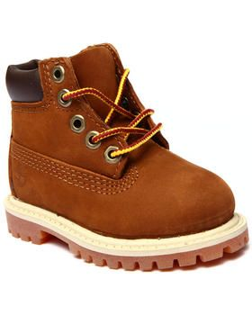 "The mini 6"" Classic Premium Waterproof boots by #Timberland for #toddlers! Love this brown for Fall/Winter."