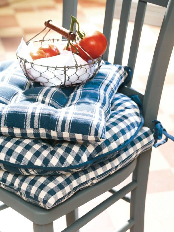 galettes de chaises colorées, galettes de chaises rondes