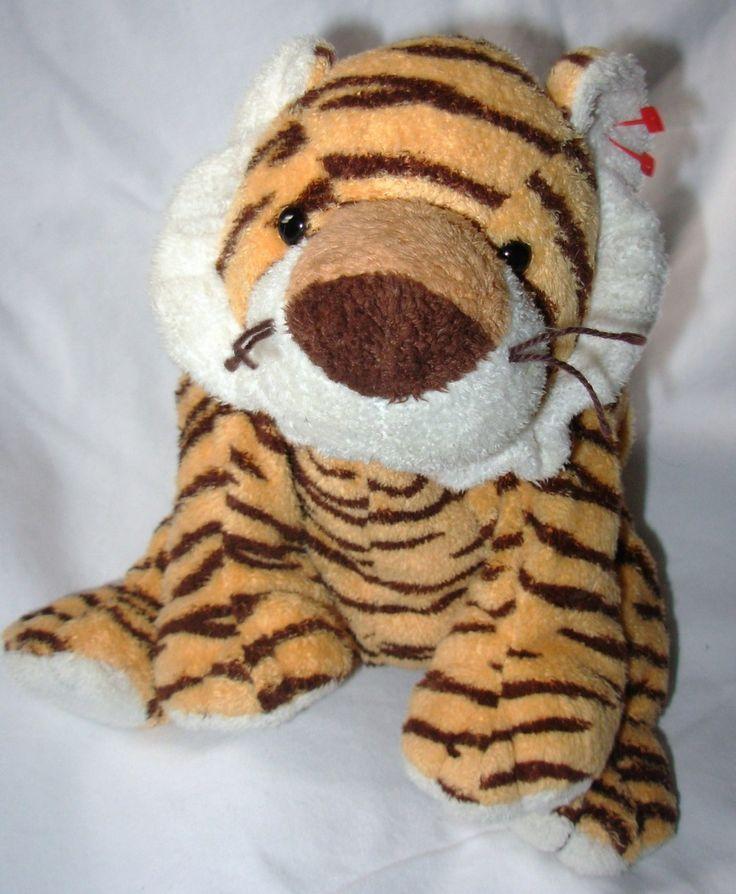 2005 Ty Pluffies Growlers Tiger Plush Stuffed Animal Cat