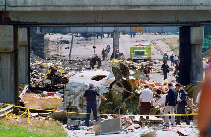 August 16,1987: NORTHWEST AIRLINES PLANE CRASHES  -   Northwest Airlines Flight 255 crashes while trying to take off from Detroit, Killing 156 people. The sole survivor was 4-year-old Cecelia Cichan .