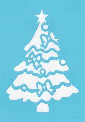 Pochoir sapin de Noël pour la décoration de fenêtre avec Window Color