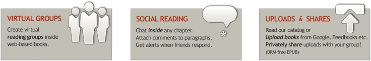 Try BookGlutton's social reading experience. Just sign in with Facebook and invite some friends. You can create virtual groups to meet up inside a book. Have great discussions - chat inside any chapter! And with shared notes you can comment on any paragraph, and you'll get notified when your friends respond.