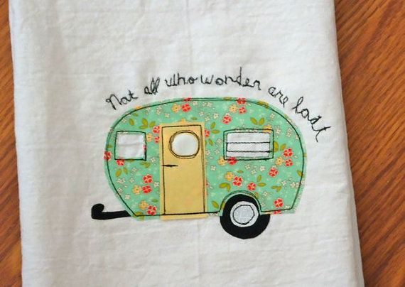 Little Camper Trailer Kitchen Flour Sack towel by BSoriginals, $14.00