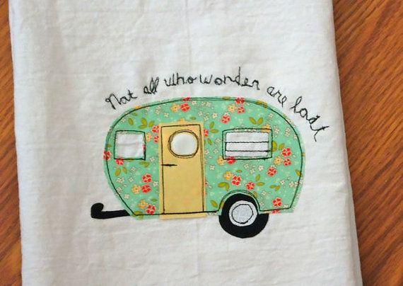 Little Camper Trailer Kitchen Flour Sack towel by BSoriginals, $14.00