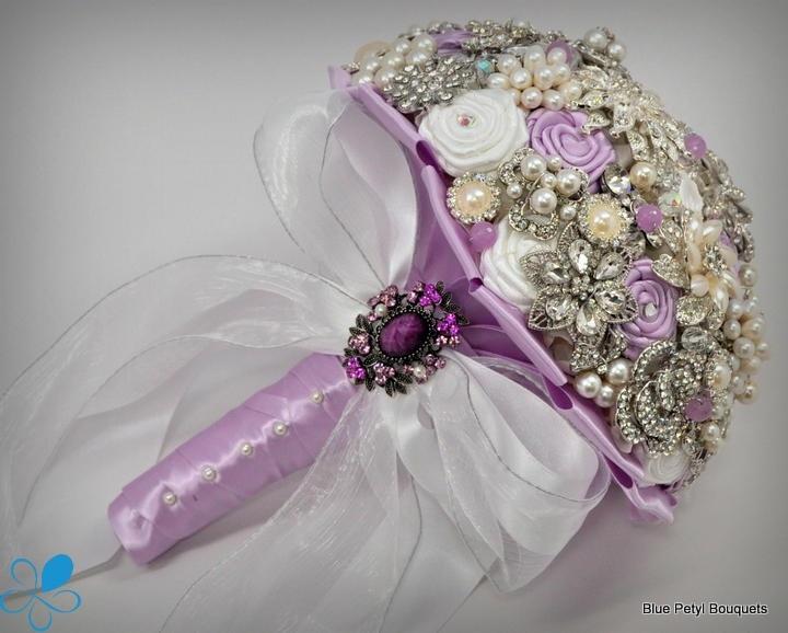 """""""Julia"""" Lilac Brooch Bouquet by Blue Petyl #wedding #bouquet #purple"""