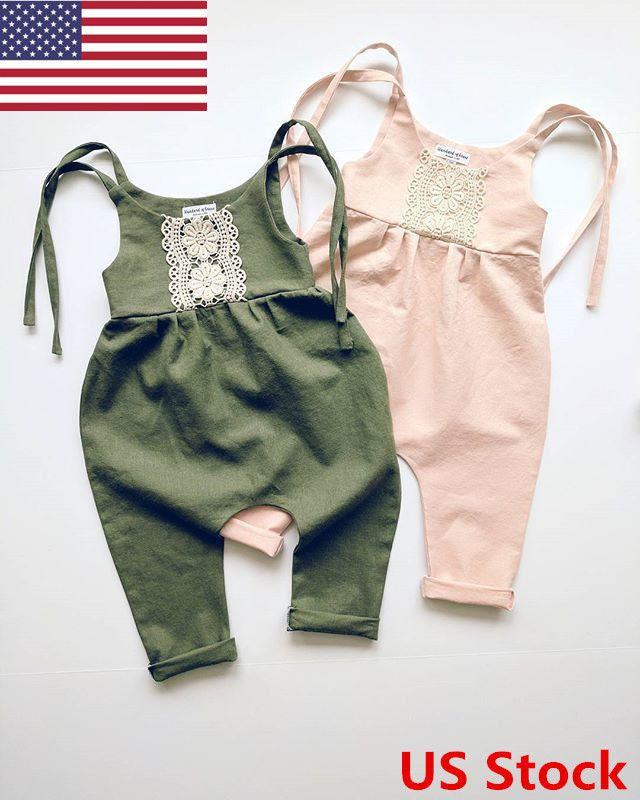 5d1b12798 US Newborn Kids Baby Girl Infant Romper Jumpsuit Bodysuit Lace ...