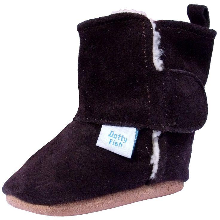 Bimbo morbido scamosciato stivali con pelliccia - Marrone Cioccolato - Dotty Fish - ragazzo e ragazza taglia 6-12 mesi: Amazon.it: Prima infanzia