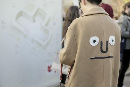 Outside the fashion shows at Paris Fashion Week.  See more on nowfashion.com  #PFW #StreetStyle