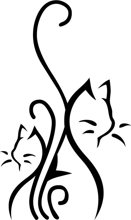 1000 id es sur le th me tatouage de griffure sur pinterest - Tatouage silhouette chat ...