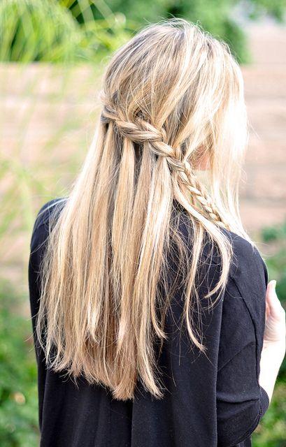 Partial French Braid Cascade  Hair Tutorial by ...love Maegan, via Flickr