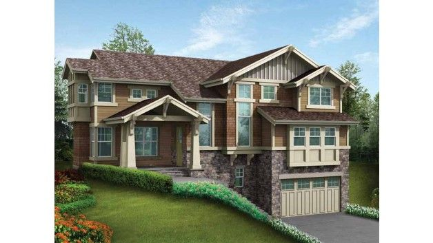 Pinterest the world s catalog of ideas for Front sloping lot house plans