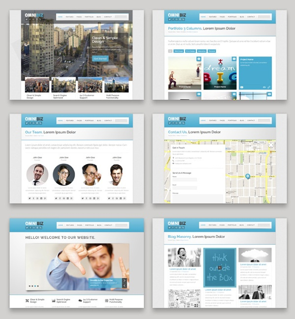 Omnibz - Html5 Responsive Site Template by Stephanus Lukmanto , via Behance