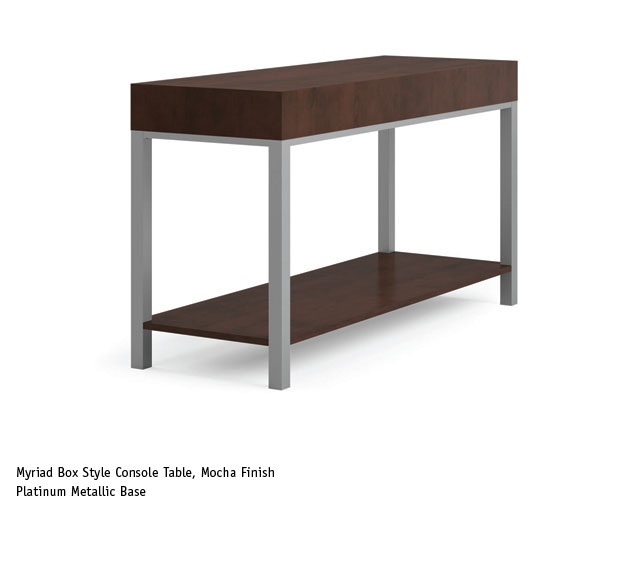 Office Console Table: Myriad Box Style Console Table