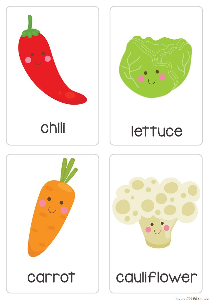 "Our set of printable ""Fruit & Vegetable Flash Cards"" are a great learning tool for early literacy and would be a great addition to a health unit. All brightly coloured and of high quality."