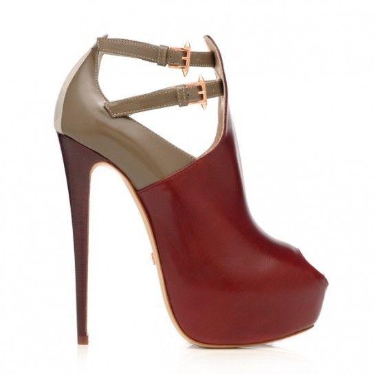 Ruthie Davis, scarpe Autunno Inverno 2013-14 - Ankle boot Ruthie Davis bicolor