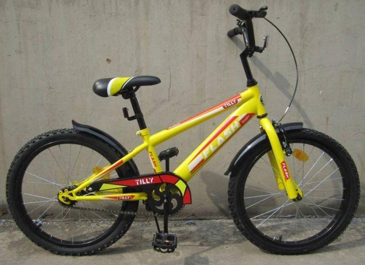 """Детский велосипед двухколесный Tilly Flash 20"""" Yellow  Цена: 69 AFN  Артикул: T-22042  Велосипед Flash 20"""" BT-CB-0047 - отличный детский городской велосипед, который способен подарить своему пользователю массу впечатлений от увлекательной прогулки.  Подробнее о товаре на нашем сайте: https://prokids.pro/catalog/detskiy_transport/dvukhkolesnye_velosipedy/detskiy_velosiped_dvukhkolesnyy_tilly_flash_20_bt_cb_0047_yellow/"""