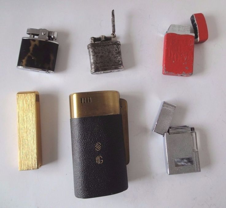 Vintage Collectors Lot of 6 Lighters