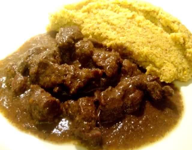 Capriolo in umido con polenta