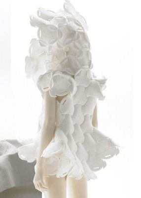 Wearable Art. It looks like this dress was made out of oxygen masks but i enjoyed the bubbliness of the dress.