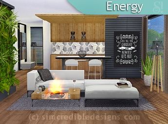 Simcredible designs 4 living rooms 1 sims 4 living for Modern living room sims 4