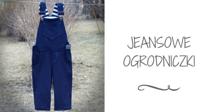 OGRODNICZKI Z JEANSU/JEANS DUNGAREES SEWING STEP BY STEP TUTORIAL