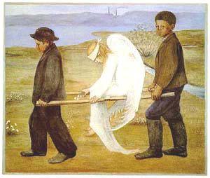 Hugo Simberg: Haavoittunut enkeli.