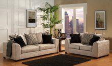 Sala con tela agradable a la vista y al tacto.