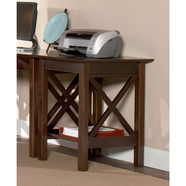 Atlantic Lexi Wood Walnut Finish Eco-friendly Printer Stand