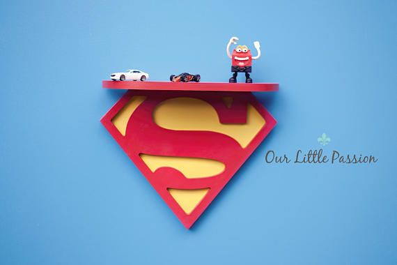 Superman Shelf Shelf For Baby Nursery Kids Room Wall