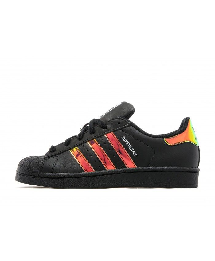 best website 3a1d9 959e2 Adidas Superstar Metallic Iridescent Black Traniers On Sale