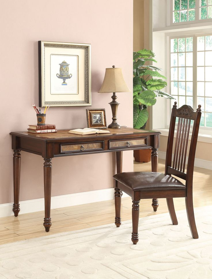 Delilah 800079 merlot 2piece writing desk and chair set