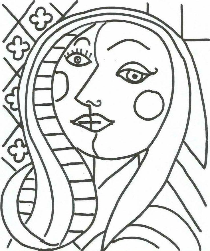 Picasso Line Drawing Face : Pin by nihal karadaş on sanat etkinlikleri pinterest