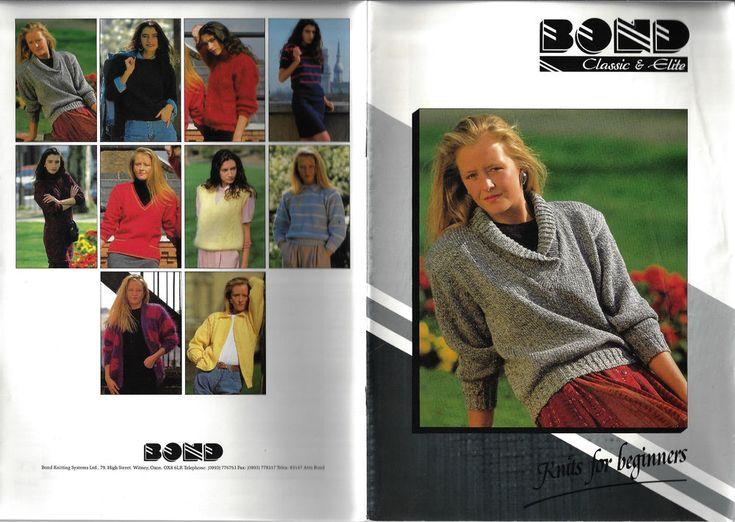 Bond Machine Knits for Beginners knitting pattern classic & elite #Bonds