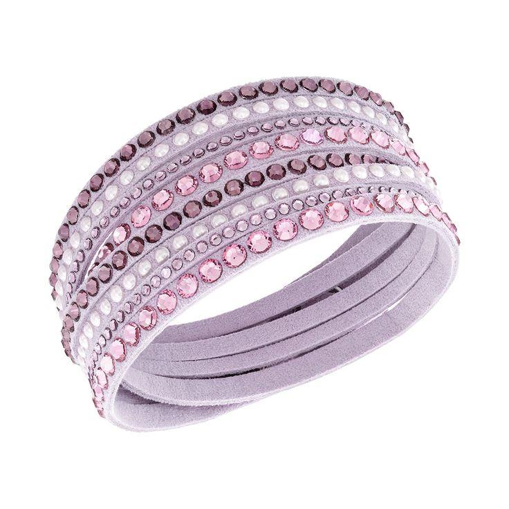 Slake Armband Deluxe, Rosa/Ljus Kristall, Swarovski