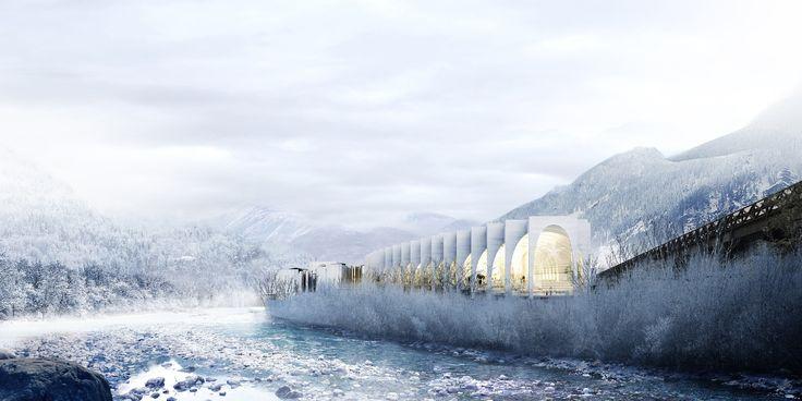 Проект флагманского завода «Сан-Пеллегрино» © BIG