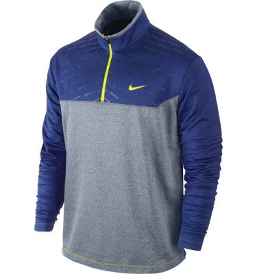 Nike Men's Asymmetrical Printed Long Sleeve Cover-Up | Deep Royal