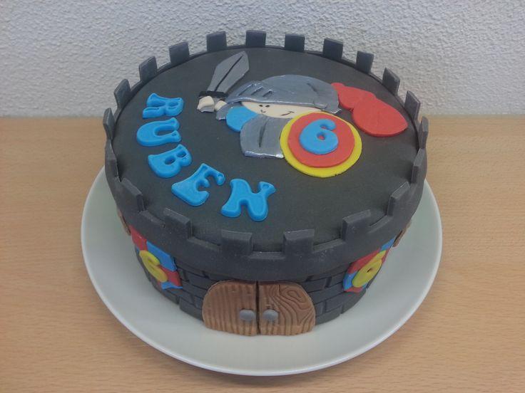 Riddertaart #ridder #knights #cake #taart #baking #bakken #fondant