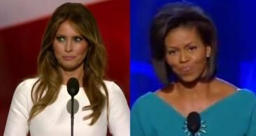 """Melania Trump's prime-time speech was strikingly similar to Michelle Obama's-Speechwriters agog at Melania Trump plagiarism snafu """"My guess is their system is completely haphazard."""""""