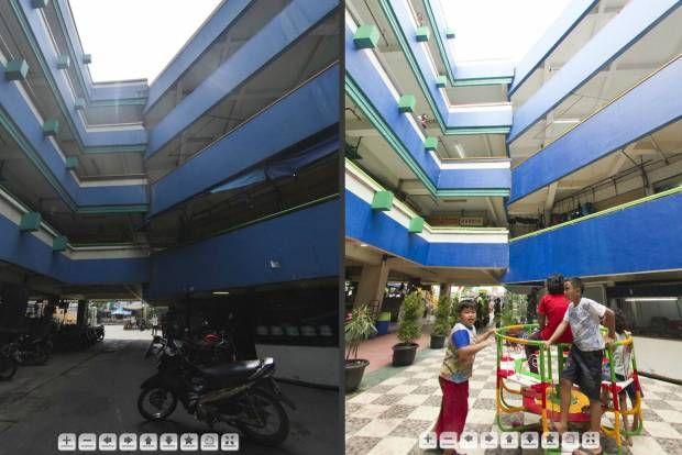 FOTO 360 DERAJAT: Blok G Pasar Tanah Abang (Sebelum dan Sesudah Renovasi).