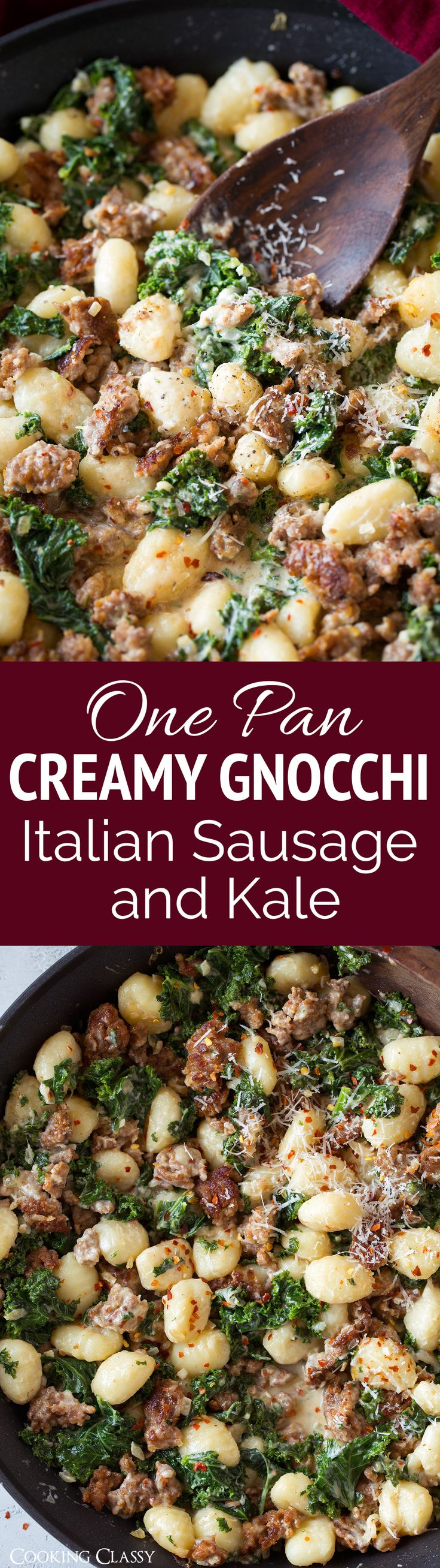 This is pure comfort food! A quick and easy plus seriously satisfying gnocchi dinner that's all cooked in one pan. You'll want this one on repeat!