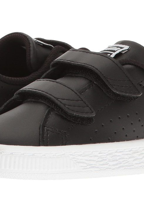 Puma Kids Basket Classic Velcro BW INF (Toddler) (Puma Black/Puma Black) Kids Shoes - Puma Kids, Basket Classic Velcro BW INF (Toddler), 36339601-001, Footwear Closed Hook and Loop, Hook and Loop, Closed Footwear, Footwear, Shoes, Gift, - Fashion Ideas To Inspire