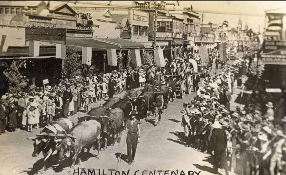 1937 centenary. Gray St Hamilton Victoria Australia.