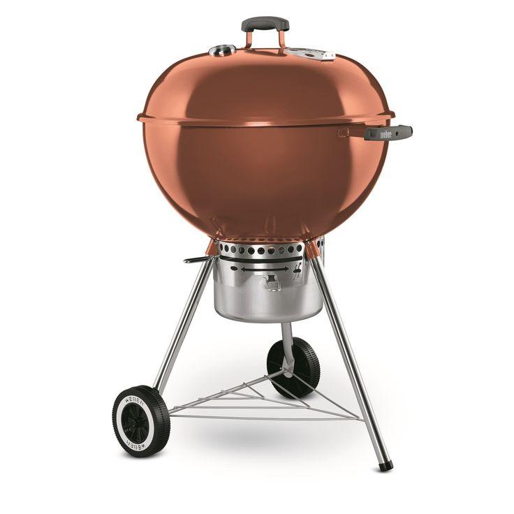 weber one touch gold 22 5 in copper porcelain enameled kettle charcoal grill 1352001 shops. Black Bedroom Furniture Sets. Home Design Ideas