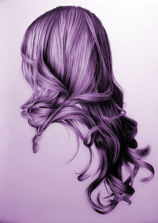 purple hair girl drawing - Google Search | Drawings ...